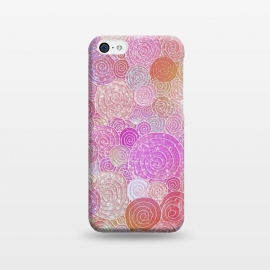 iPhone 5C  Pink and rose gold circles and dots pattern by Utart