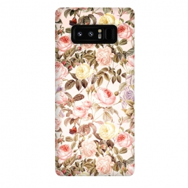 Galaxy Note 8  Vintage Roses Pattern by Utart