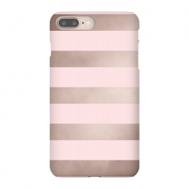iPhone 8/7 plus  Rose Gold Copper Stripes Pattern by
