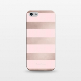 iPhone 5/5E/5s  Rose Gold Copper Stripes Pattern by Utart