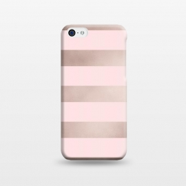 iPhone 5C  Rose Gold Copper Stripes Pattern by Utart