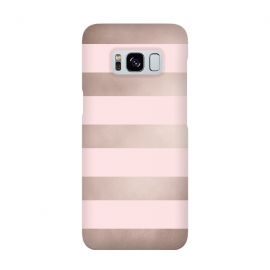 Rose Gold Copper Stripes Pattern by Utart