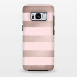 Galaxy S8+  Rose Gold Copper Stripes Pattern by Utart