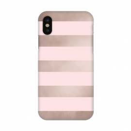 iPhone X  Rose Gold Copper Stripes Pattern by Utart