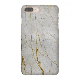 iPhone 8/7 plus  Golden Marble Veins On Concrete by