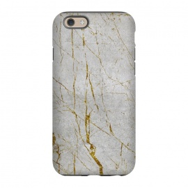 iPhone 6/6s  Golden Marble Veins On Concrete by Andrea Haase