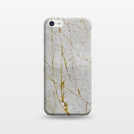 iPhone 5C  Golden Marble Veins On Concrete by Andrea Haase