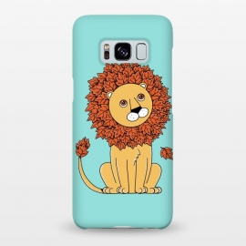 Galaxy S8+  Lion by Coffee Man (lion,lions, animal,animals, pet, pet lover, animal lover, king, little lion, nature, leave, forest,nature,cute, adorable, kid, kids, children, fun, funny, humor)