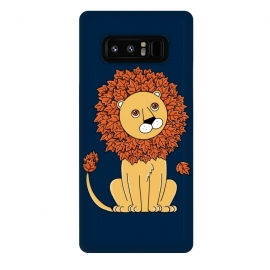 Galaxy Note 8  Lion 2 by Coffee Man (lion, lions,animal, animals,cute, fun, funny, humor,pet, pets,forest,nature,leave,kid,kids,children,tree)