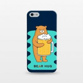 iPhone 5/5E/5s  Beer Hug by Coffee Man (beer, bear, hug, bear hug, drink, drinking, fun, funny, humor, cute, adorable, creative, animal, animals, pet, pets)