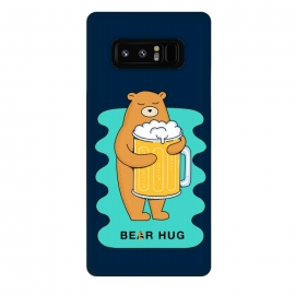 Galaxy Note 8  Beer Hug by Coffee Man (beer, bear, hug, bear hug, drink, drinking, fun, funny, humor, cute, adorable, creative, animal, animals, pet, pets)