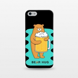 iPhone 5/5E/5s  Beer Hug 2 by Coffee Man (beer, bear, animal, animals, fun, funny, humor,cerveza, birra, drink, drinking, animal lover, pet, pets,pet lover, wild, nature,hug, hug bear, hug beer)