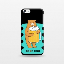iPhone 5C  Beer Hug 2 by Coffee Man (beer, bear, animal, animals, fun, funny, humor,cerveza, birra, drink, drinking, animal lover, pet, pets,pet lover, wild, nature,hug, hug bear, hug beer)