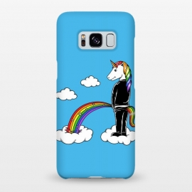 Galaxy S8+  Unicorn Rainbow Blue by Coffee Man (unicorn, unicorns,magic,rainbow,colorful,cloud,fun,funny,humor,fary tale,punk,kid,kids,children,sky,horse, animal, animals,pet,pets)