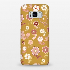 Galaxy S8+  60s Flowers in Mustard and Pink by Paula Ohreen