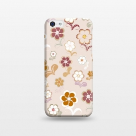 iPhone 5C  60s Flowers on Light Pink by Paula Ohreen