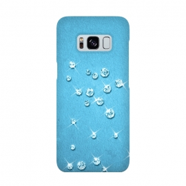 Galaxy S8  Sparkling Rhinestones on Blue by Andrea Haase