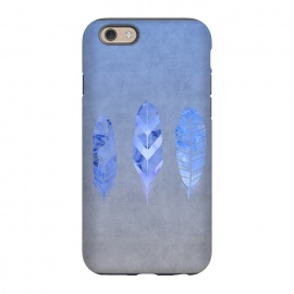 iPhone 6/6s  Blue Watercolor Feathers by Andrea Haase