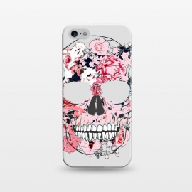 iPhone 5/5E/5s  Famous When Dead by Uma Prabhakar Gokhale (graphic design, floral, nature, skull, botanical, famous, fame, face, dead, scary)