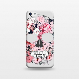 iPhone 5C  Famous When Dead by Uma Prabhakar Gokhale (graphic design, floral, nature, skull, botanical, famous, fame, face, dead, scary)