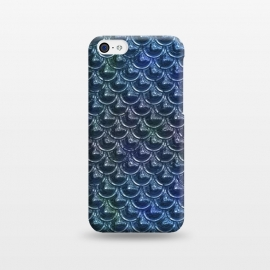 iPhone 5C  Shimmering Blue Metallic Scales by Andrea Haase