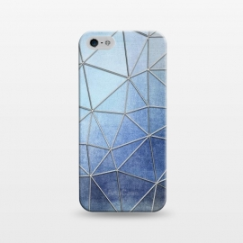 iPhone 5/5E/5s  Blue Triangles by Andrea Haase