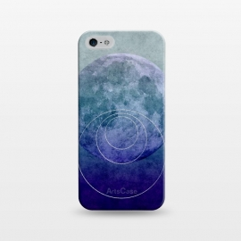 iPhone 5/5E/5s  Blue Abstract Moon by Andrea Haase