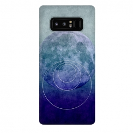 Galaxy Note 8  Blue Abstract Moon by Andrea Haase