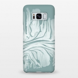 Galaxy S8+  Teal Liquid Paint by Andrea Haase