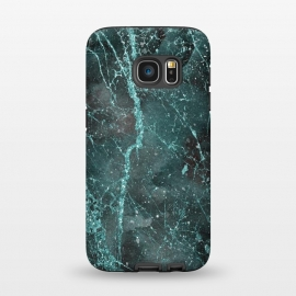Galaxy S7  Glamorous Turquoise Glitter by Andrea Haase (turquoise, teal, glitter, glamour, precious, glamorous, shiny,sparkle, luxury, elegant, feminine, exclusive, pink, metal, beautiful, green, ultramarine, shimmering, extravagant, exquisite, fancy, fashionable, marble, vein, quartz, stone, mineral)