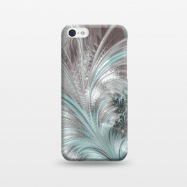 iPhone 5C  Floral Fractal Teal Silver by Andrea Haase