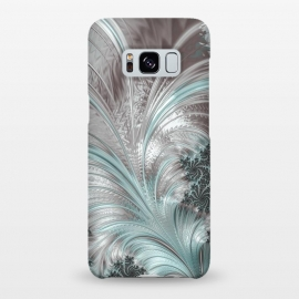 Galaxy S8+  Floral Fractal Teal Silver by Andrea Haase