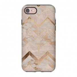 iPhone 8/7  Marble Rosegold Chevron by Utart