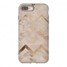 iPhone 8/7 plus  Marble Rosegold Chevron by Utart