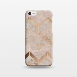 iPhone 5C  Marble Rosegold Chevron by Utart
