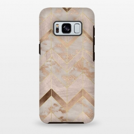 Galaxy S8 plus  Marble Rosegold Chevron by