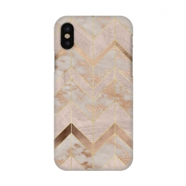 iPhone X  Marble Rosegold Chevron by Utart