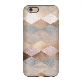 iPhone 6/6s  Marble Rose Gold Argyle by Utart