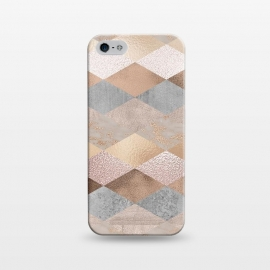 iPhone 5/5E/5s  Marble Rose Gold Argyle by Utart