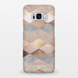 Galaxy S8+  Marble Rose Gold Argyle by Utart
