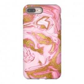 Pink and Gold Marble by Utart