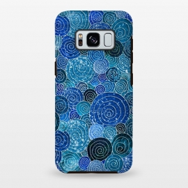 Galaxy S8+  Blue Glitter Circles Dance by Utart