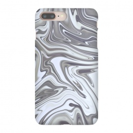 Grey White Shimmering Marble by Andrea Haase