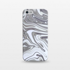 iPhone 5/5E/5s  Grey White Shimmering Marble by Andrea Haase