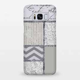 Galaxy S8+  Silver And Grey Collage by Andrea Haase