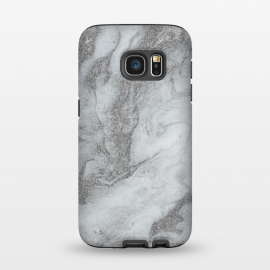 Galaxy S7  Grey Silver Marble by Andrea Haase
