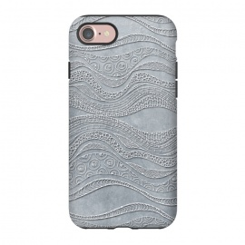 iPhone 8/7  Silver Doodle Pattern by Andrea Haase