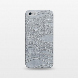 iPhone 5/5E/5s  Silver Doodle Pattern by Andrea Haase