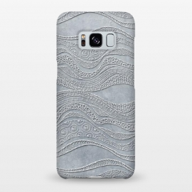 Galaxy S8+  Silver Doodle Pattern by Andrea Haase