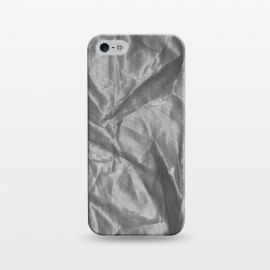 iPhone 5/5E/5s  Shiny Silver Fabric by Andrea Haase